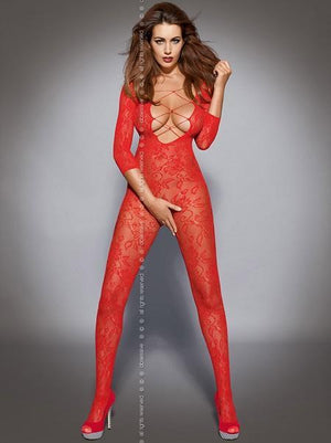 Red long sleeve bodystocking
