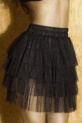Four tiered netted skirt