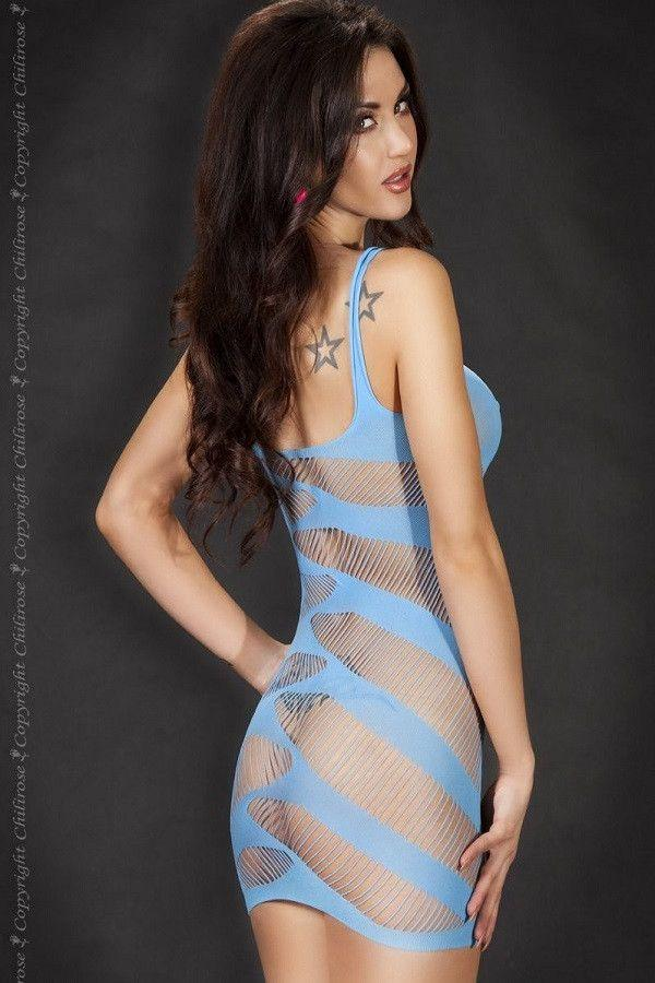 Blue lingerie dress