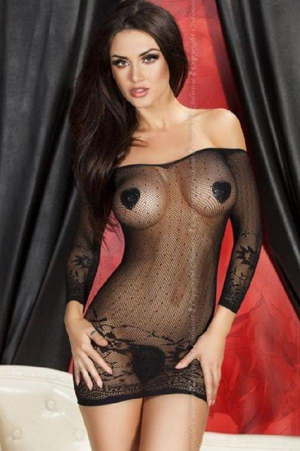 Black lingerie seamless dress