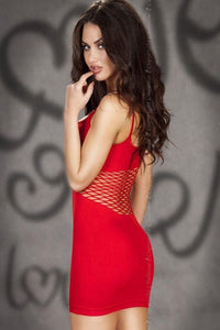 Red seamless Mini dress