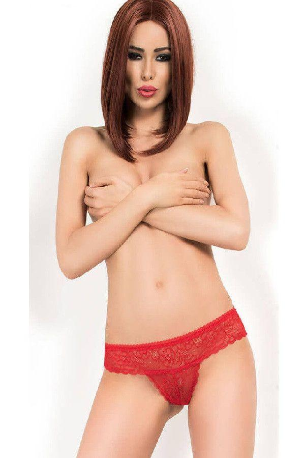 Red lace lingerie panty`s