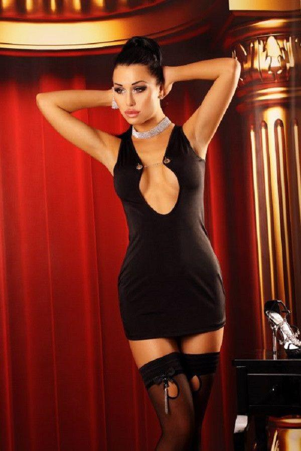 Classic black mini-dress