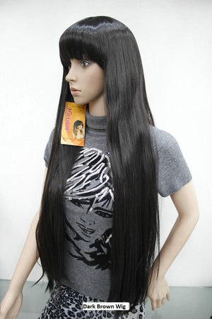 Dark Brown Long Wig 950A