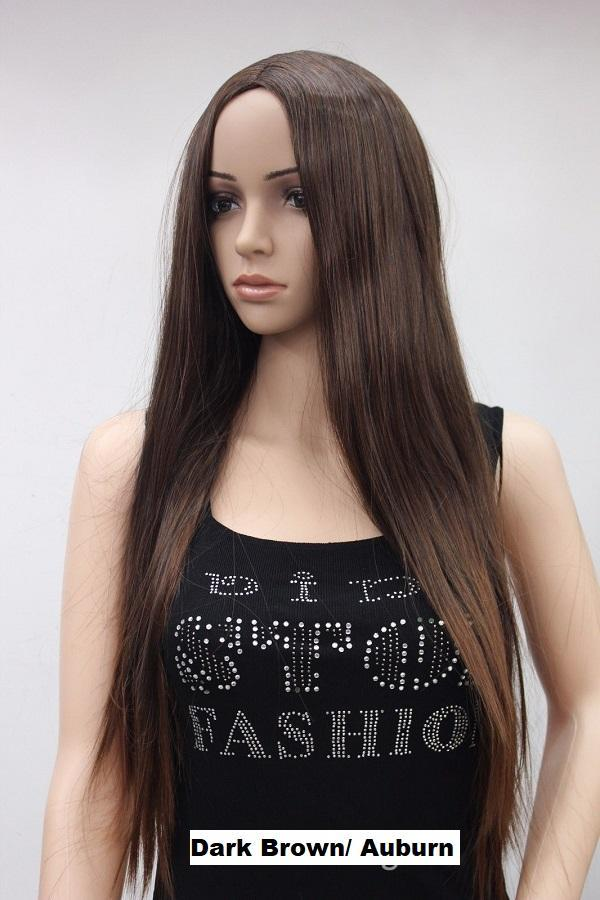 Dark Brown Auburn Mix Wig 4118