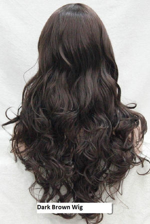 Long Brown Wavy Wig E-233
