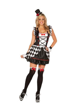 Haute Harlequin Clown costume