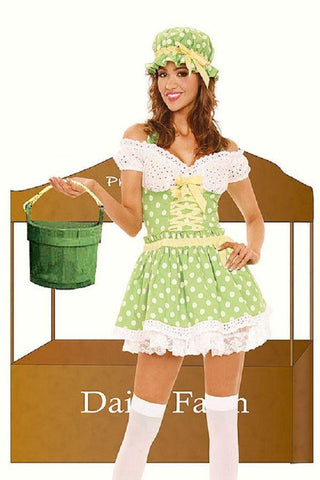 Misbehaving Milk Maid fancy dress