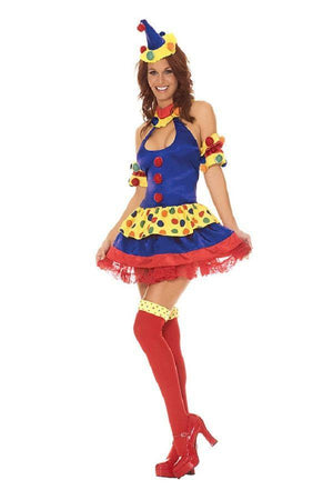 Clown inspired fancy dress costume