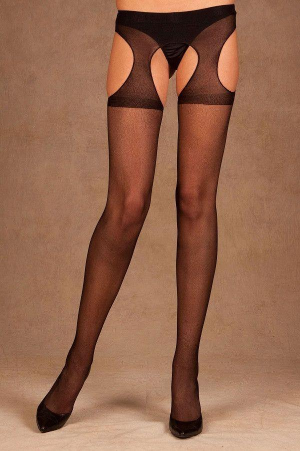 Sheer suspender tights