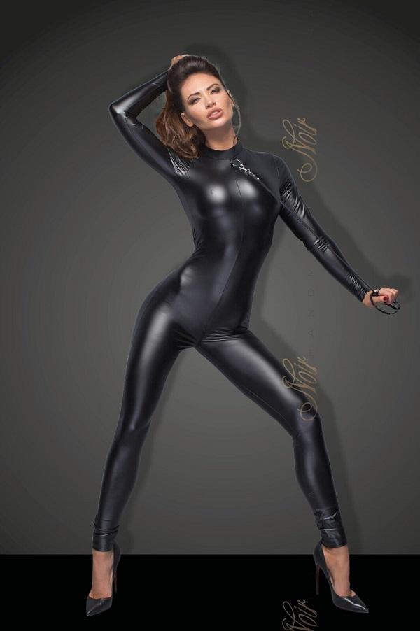 Power wet-look cat-suit F162