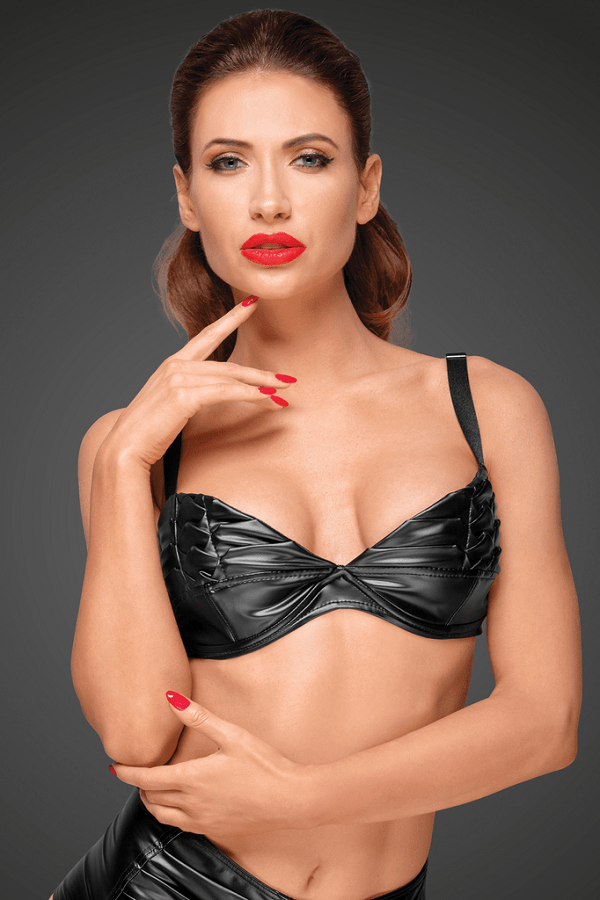 Power wet-look bra F174
