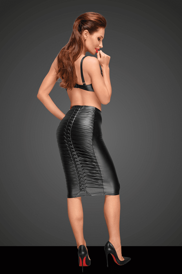 Power wet-look skirt F177