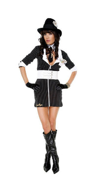 Mobster costume pinstripe dress