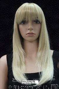 Straight Wig Light Golden Blonde