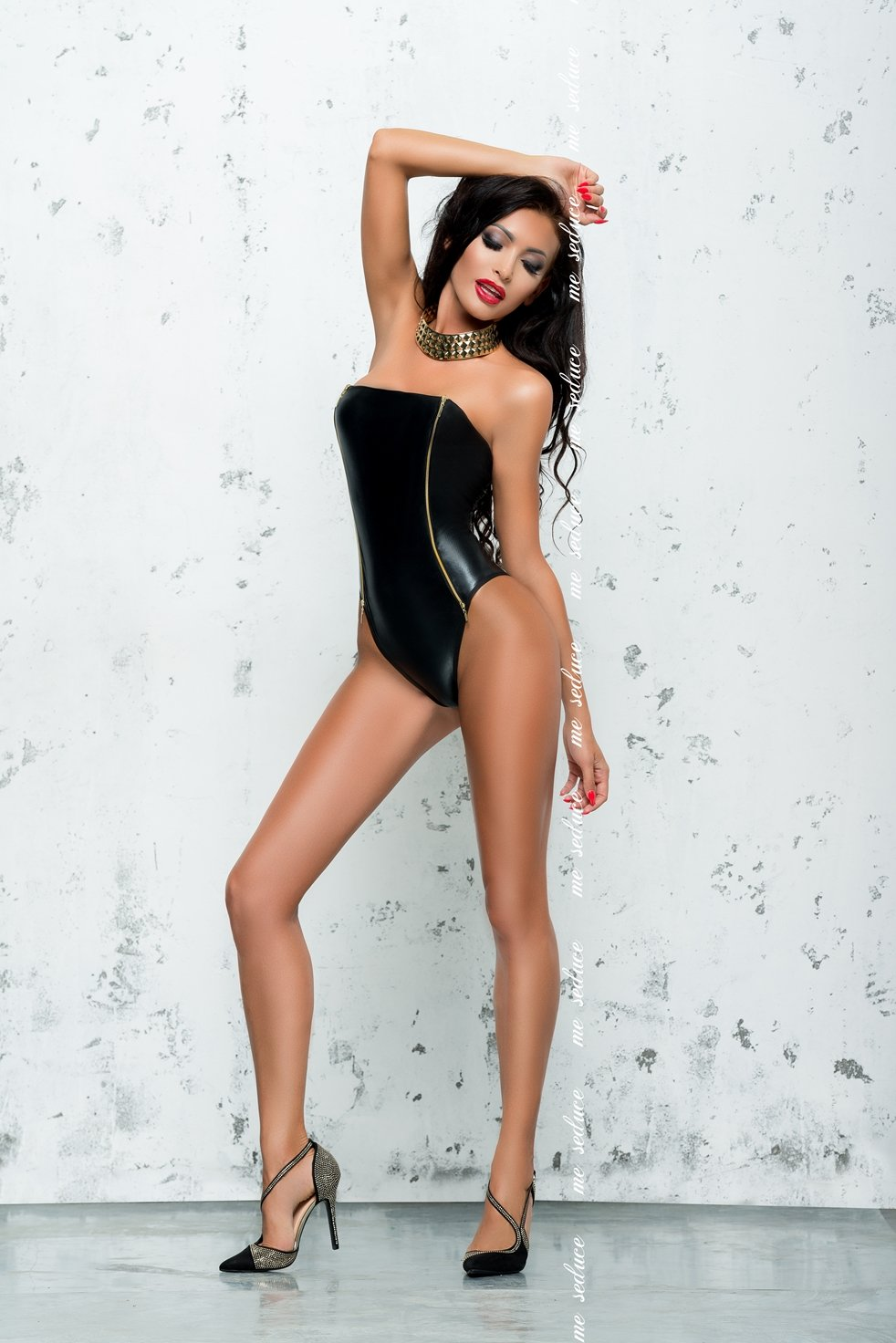 Metallic Black Body Fanny
