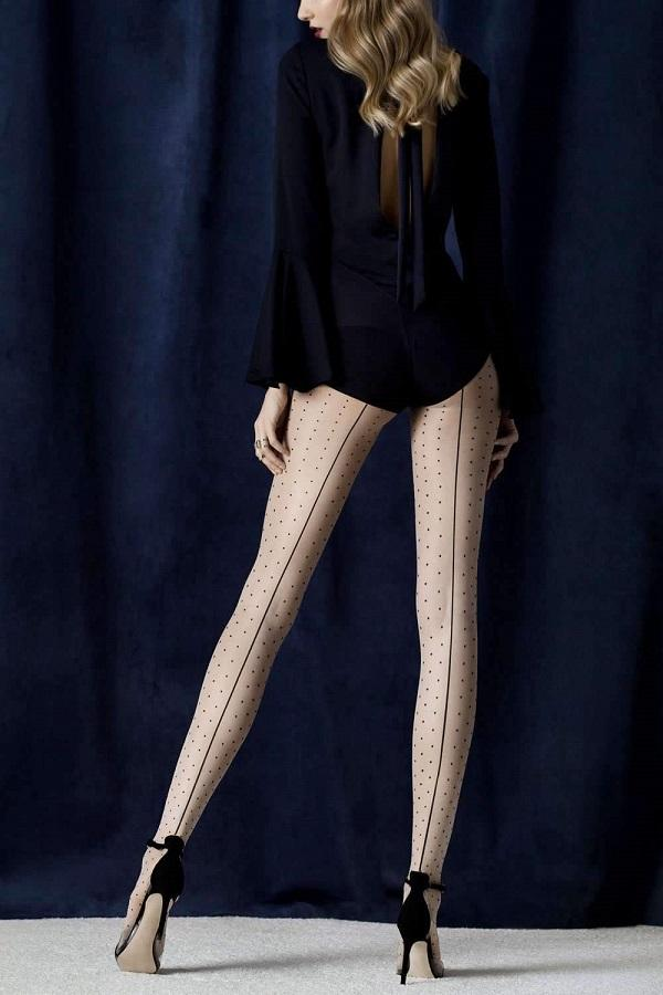 Intrigue Seamed Spotted Tights