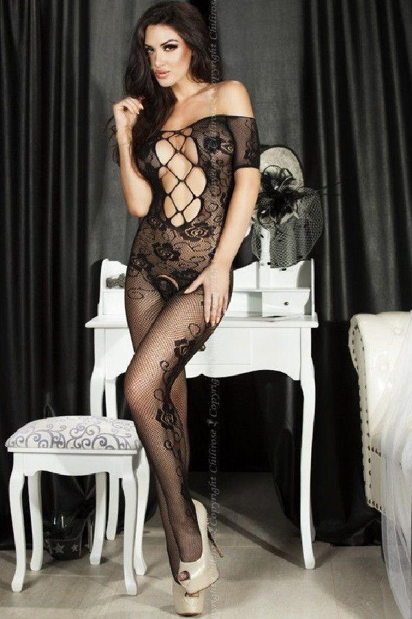 Floral pattern bodystocking