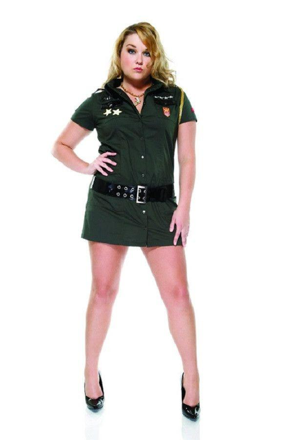 Army Seductress costume plus size