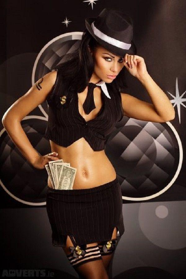 Four piece Gangster costume for <span class=money>€34.95 EUR</span> at Flirtywomen