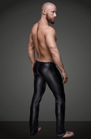 Mens Wet Look Trousers