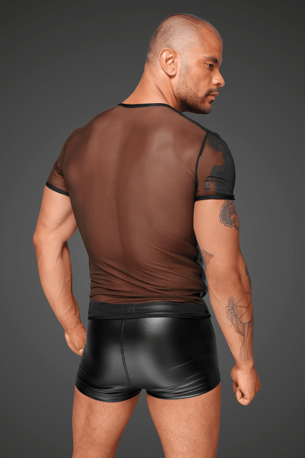 Mens shirt mesh and PVC H055
