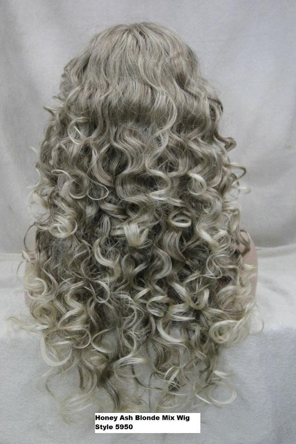 Long Honey Ash Blonde Curly Wig