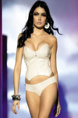 Ivory corset top with briefs set for <span class=money>€24.95 EUR</span> at Flirtywomen