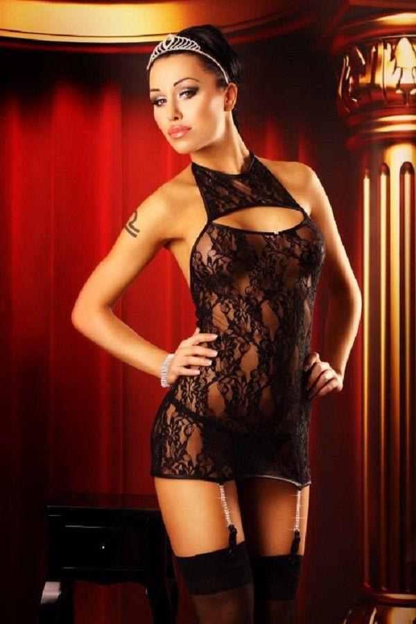 Jeweled lingerie nightdress