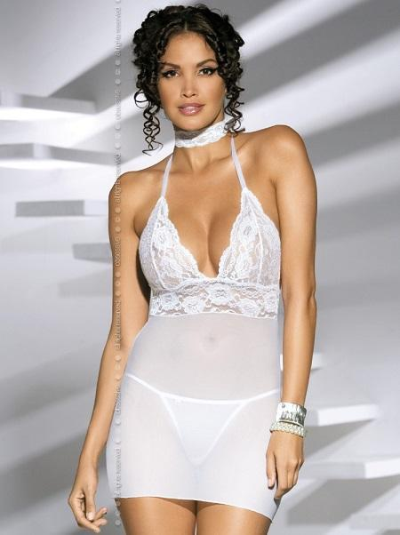 White lingerie nightdress
