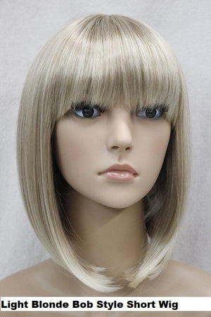 Light Blonde Bob Short Wig