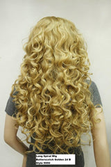 Long Golden Spiral Curl Wig