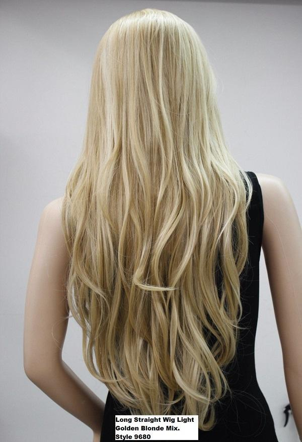 Long Striaght Light Blonde Wig