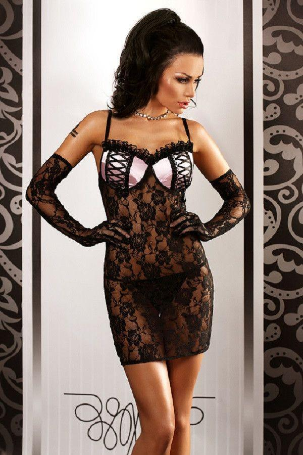 Stunning black lace nightdress