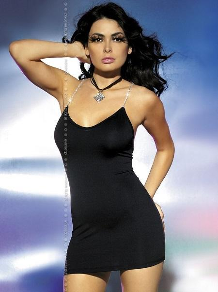 Black slim fitting clubwear dress