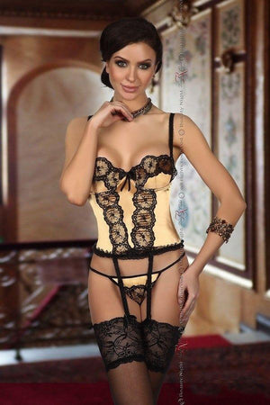 Luxury gold and black corset