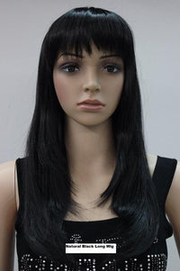 Natural Black long Wig