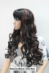 Black with Red Mix wig 1990A
