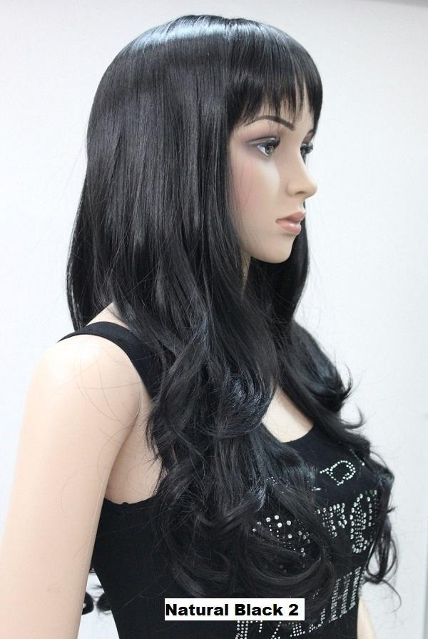 Natural Black Long Wavy Wig