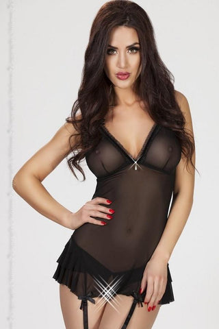 Nightdress with suspenders