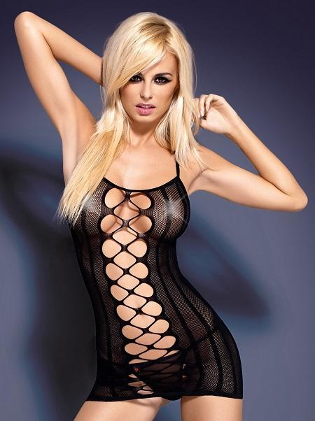Black lingerie dress