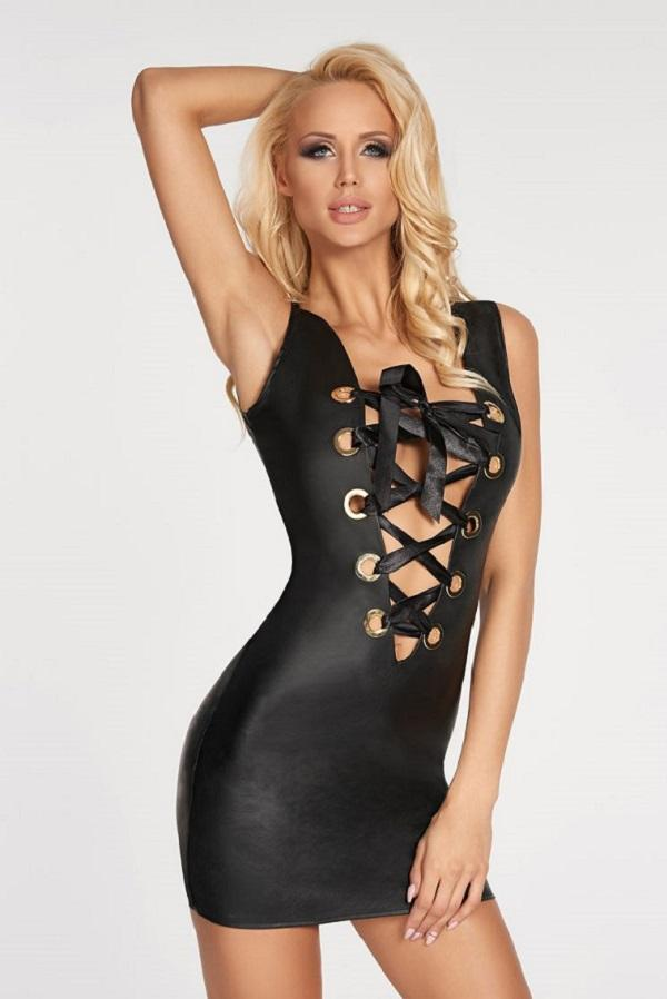 Leather Look Dress Rubio