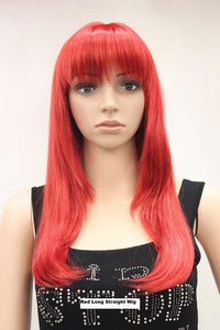 Long Straight Red Wig