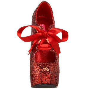 High Heel red glitter shoes