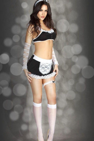 French Maid seven Piece Costume set for <span class=money>€26.95 EUR</span> at Flirtywomen