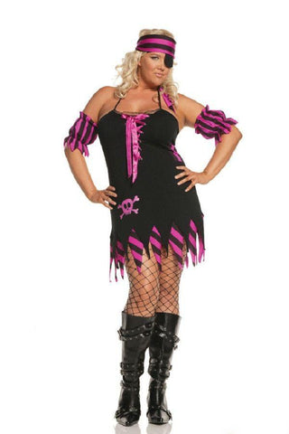 Plus size pirate costume shipwreacked for <span class=money>€29.95 EUR</span> at Flirtywomen