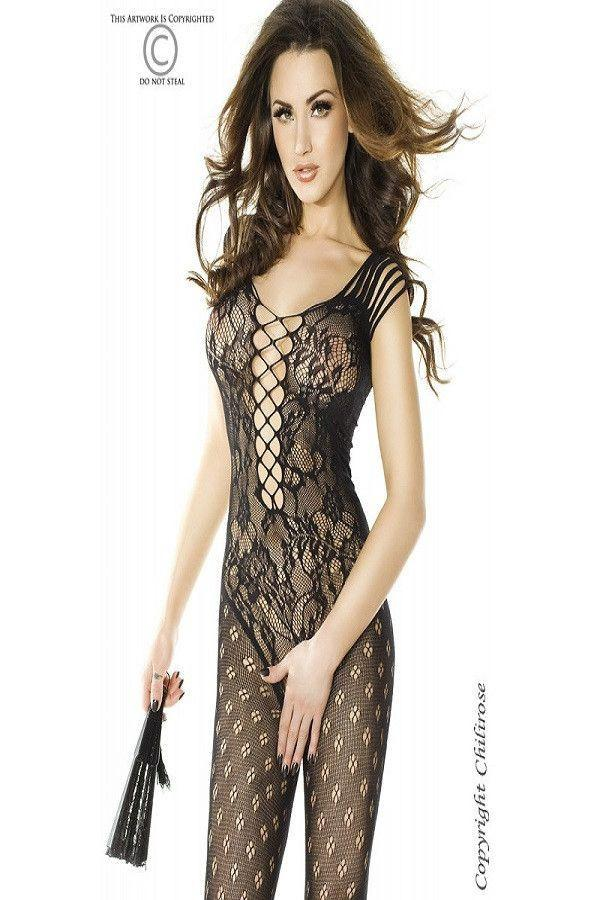 Stretchy black bodystocking