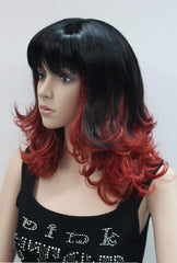 Black and Red Wig