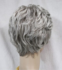 Short Curly Grey Mix Wig