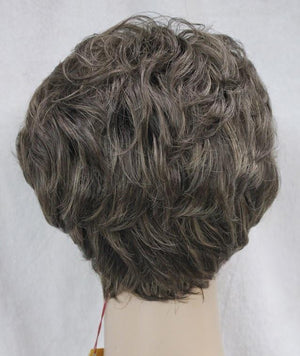 Short Curly Brown Mix Wig